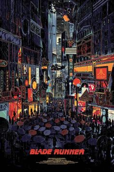 Blade Runner Poster by Kilian Eng x 13 color screen, private commission, not for sale. Blade Runner Poster, Blade Runner Art, Blade Runner 2049, Blade Runner Wallpaper, Ville Cyberpunk, Cyberpunk Art, Posters Vintage, Art Vintage, Kilian Eng