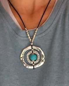 Excited to share the latest addition to my #etsy shop: Silver Rings Necklace uno 50 style Loop Necklace Rings pendant Turquoise Jewelry Women necklace Eyeglass Necklace Boho Style Gift for her http://etsy.me/2oGwn9n #jewelry #necklace #silver #circle #blue #turquoise #