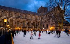 Winchester Cathedral Christmas Market and Ice Rink, opens November.