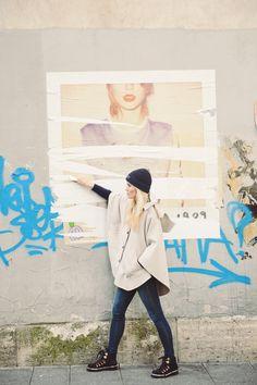 1faa24cf Love her cape and beanie | Camilla Pihl Blogger Style, Camilla, Love Her,