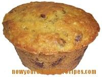Muffins made in the food processor or blender - whole orange and dates are chopped in the processor.