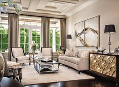 Living room design by P&H Interiors. Love!  www.MiamiDesignMagazine.com