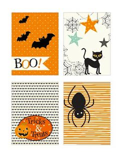 "FREE printable Halloween Project Life Cards (just click ""ici"" next to… Carte D'invitation Halloween, Printable Halloween, Image Halloween, Halloween Diy, Country Halloween, Halloween Images, Costume Halloween, Halloween Decorations, Project Life Karten"
