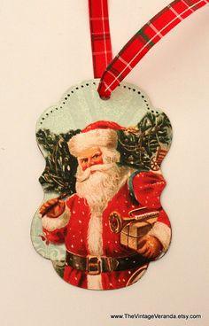Vintage Inspired Christmas Gift Tag.