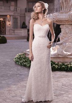 Casablanca gown with sheath silhouette, sweetheart neckline, beaded ribbon sash, and lace embellishments I Style: 2131 I https://www.theknot.com/fashion/2131-casablanca-bridal-wedding-dress?utm_source=pinterest.com&utm_medium=social&utm_content=june2016&utm_campaign=beauty-fashion&utm_simplereach=?sr_share=pinterest