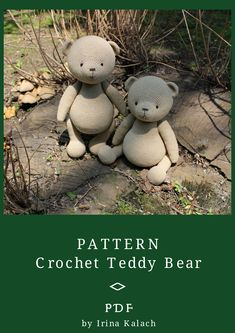 PATTERN Crochet Teddy bear. PATTERN Amigurumi Teddy bear. Size of the finished toy about 32 cm (12,59')  Level: medium.  This pattern includes: - pdf file with detailed instructions in English; - 49 pages long and has a lot of pictures (about 70) to help you by working; - job description for thread jointed paws; - job description for cotter pins jointed paws.  #etsy #crochetamigurumi #crochetamigurumipattern #CrochetTeddybearpattern  #crochetbeardoll #crochetbearpattern Crochet Teddy Bear Pattern, Crochet Animal Patterns, Crochet Bunny, Crochet Patterns Amigurumi, Amigurumi Toys, Handmade Toys, Handmade Ideas, Etsy Handmade, Large Teddy Bear