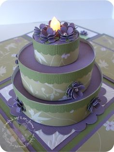 Tea light cake and matching box. Tutorial.  Luvn The Journey: Gift Box for a Birthday Girl