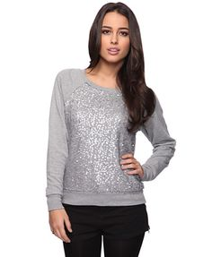Sequin Embellished Pull Over   FOREVER21 - 2011409842 / looking glam in a sweatshirt and jeans...awesome. Too much sparkle for me but still cute