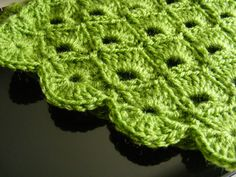 Fan lace crochet stitch.  Gorgeous!!!