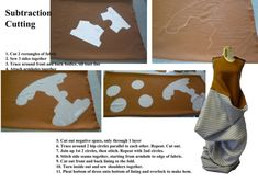 unconventional garment pattern cutting method - Subtraction Cutting
