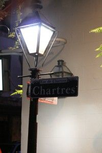 New Orleans - Chartres street lamp