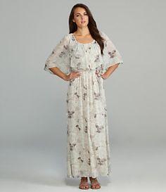 Black Rainn Floral Printed Maxi Dress | Dillard's Mobile