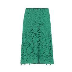 Novedades Zara Abril 2013: Falda de encaje verde -- Mujerhoy.com --