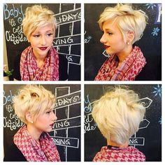 Love this platinum pixie hairstyle! Winter is just about over which means its time to revamp your hairstyle, and this is the perfect look for the upcoming seasons!