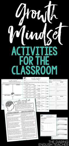 Create a growth mindset in the secondary classroom with these activities and resources. High school English. Middle school English. AVID. Homeroom. Advisory classroom ideas.