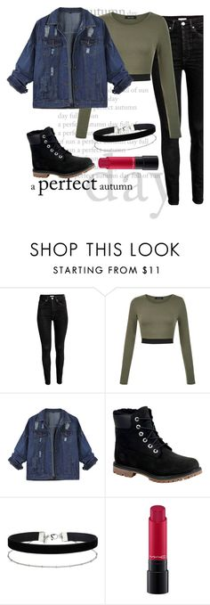 """wake uppp-"" by akyri ❤ liked on Polyvore featuring Timberland, Miss Selfridge and MAC Cosmetics"