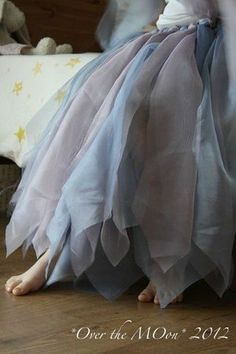 DIY a fairy Skirt with old curtains <3 If I was a nice sister, I would make this for my sister.