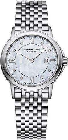 Raymond Weil Watch Tradition Ladies #bezel-fixed #bracelet-strap-steel…