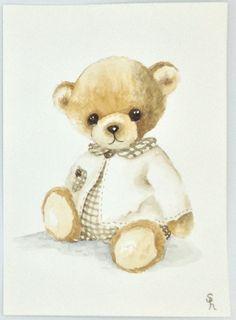 Bear Cartoon, Cartoon Pics, Art D'ours, Teddy Bear Party, Sweet Drawings, Bear Paintings, Baby Boy Themes, Bear Graphic, Baby Clip Art