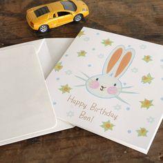 personalised bunny birthday card by moobaacluck   notonthehighstreet.com