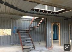 Container House Design Stairs – Shipping Container US Cargo Container Homes, Shipping Container Home Designs, Storage Container Homes, Building A Container Home, Container Cabin, Container Design, Shipping Containers, Shipping Container Buildings, Container Shop