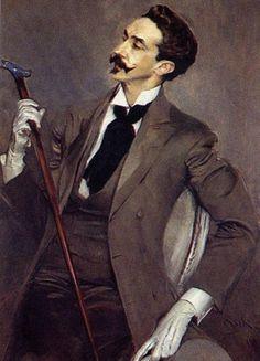 Giovanni Boldini, Victorian Gentleman, Costume Armour, Art Nouveau Illustration, Art Français, Mustache Styles, Z Photo, Renaissance Paintings, Art Moderne