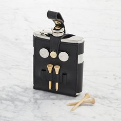 Flask with Golf Tees   Crate and Barrel