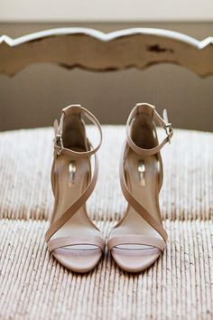 Blush Strappy Sandals wedding shoes #weddingshoes