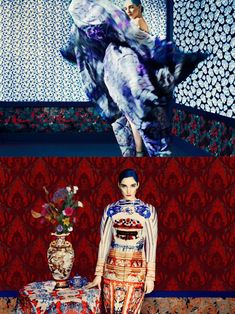 pattern and print - China Through The Looking Glass Inspired Fashion - Met Museum NYC