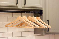 Modern Farmhouse Laundry Room Reveal | ORC Week 6 - Gather and Flourish Laundry Folding Station, Folding Laundry, Glass Storage Jars, Jar Storage, Black Wire Basket, Unfinished Cabinets, Wash And Fold, Farmhouse Laundry Room, Laundry Rooms