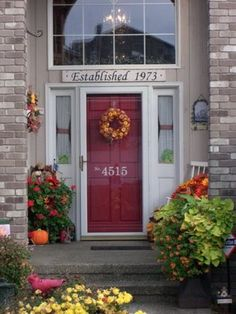 DIY ~ House Numbers ~ Hand-Painted Numbers On The Front Door ~ It's the little things that make a house a home...