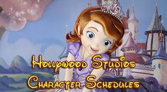Disney World Hollywood Studios Character Schedule