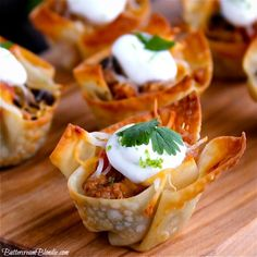 Skinny Taco Cups - my go-to for parties are so easy to make and disappear in a snap! | ButtercreamBlondie.com