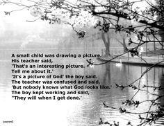 children create their own pictures of God....