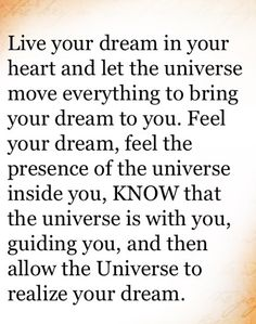 Live your dream ☼