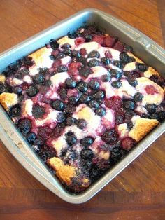 Triple Berry Cobbler - easy way to use up extra berries