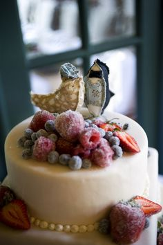 frosted fruit on a cake is such a great look