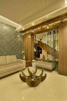Patels Residence by kush vadodariya, Interior Designer in Vadodara,Gujarat, India Hall Interior Design, Home Room Design, Living Room Designs, Drawing Room Design, Drawing Room Interior, Living Room Partition Design, Room Partition Designs, Indian Home Design, Indian Home Interior