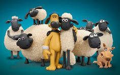 Shaun the Sheep The Movie - Bitzer, Shaun, Slip and the flock