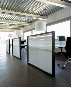 Workstations can be attractive with a professional and modern look. Providing privacy and organization is a must.