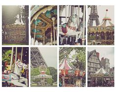 Postcard Set-French Carousels, set of 8 PRESALE 40% off. $9.00, via Etsy.