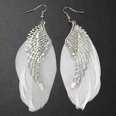 Alloy #Feather Dangle #Angel #Wing Earring Death Or Designer Collection #watches #Fashion #FashionWeek #FashionOnline #DeathOrDesigner #Dresses #Accessories #Jewelry #Beauty