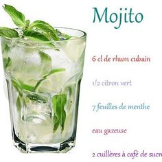 1000 ideas about recette mojito on pinterest mojitos. Black Bedroom Furniture Sets. Home Design Ideas