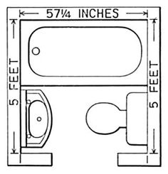 3ft x 4ft half bath or guest bath layout Bathroom Dimensions