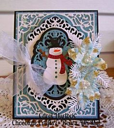 Chocolate Crafts and Bears, Oh My-using CottageCutz dies and spellbinders card creator.
