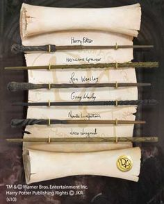 Official Harry Potter prop replicas Includes 6 beautifully made, movie quality wands Harry Potter Hermione Granger Ron Weasley Ginny Weasley Neville Longbottom Luna Lovegood Harry Potter Disney, Anel Harry Potter, Objet Harry Potter, Harry Potter Props, Harry Potter Merchandise, Harry Potter Love, Harry Potter World, Ginny Weasley, Hermione