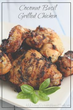 Coconut Basil Grilled Chicken - The Slim Palate Paleo Cookbook Review @slimpalate #paleo #lowcarb