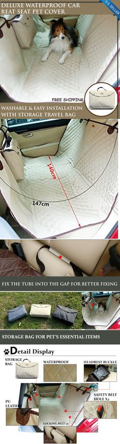 Car Seat Covers 117426: New Pet Dog Seat Hammock Cover Car Suv Van Back Rear Bench Protector Waterproof BUY IT NOW ONLY: $59.8 Hammock Cover, Dog Hammock, Hammocks, Pet Dogs, Pets, Dog Car Seats, Car Covers, Bench, Puppies