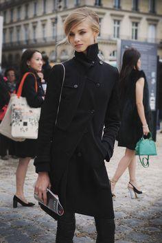 the-streetstyle:     Anna Selezneva, Palais du Louvre … Paris