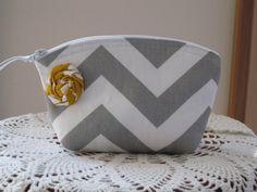 Bridesmaid Wedding Clutch Cosmetic Bag  Purse by Antiquebasketlady
